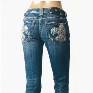 Miss Me Hancock Park Fleur de Lis Bootcut Jeans